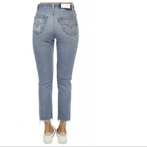 RE/DONE Levi's High Rise Straight Leg Ankle Jeans